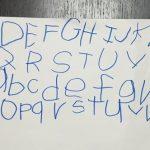 うちの子がアルファベットの小文字の書きを覚えた方法